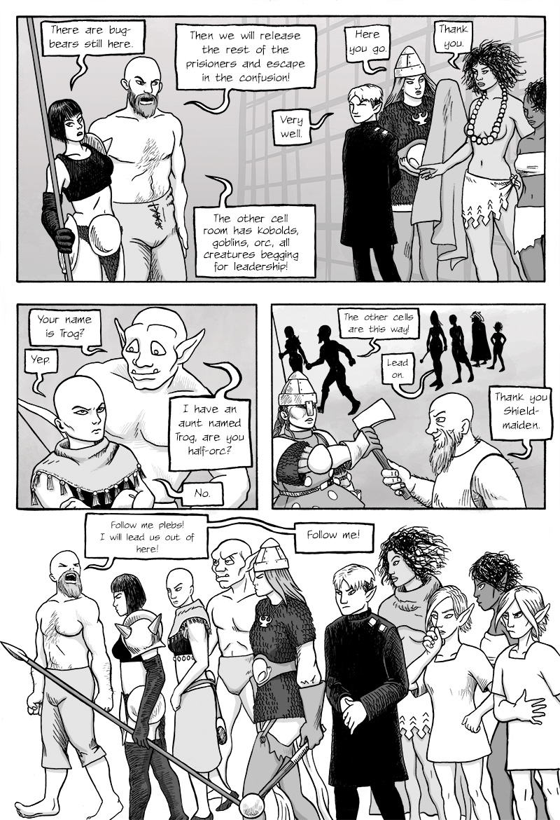 Page 316 – The Great Escape Begins.