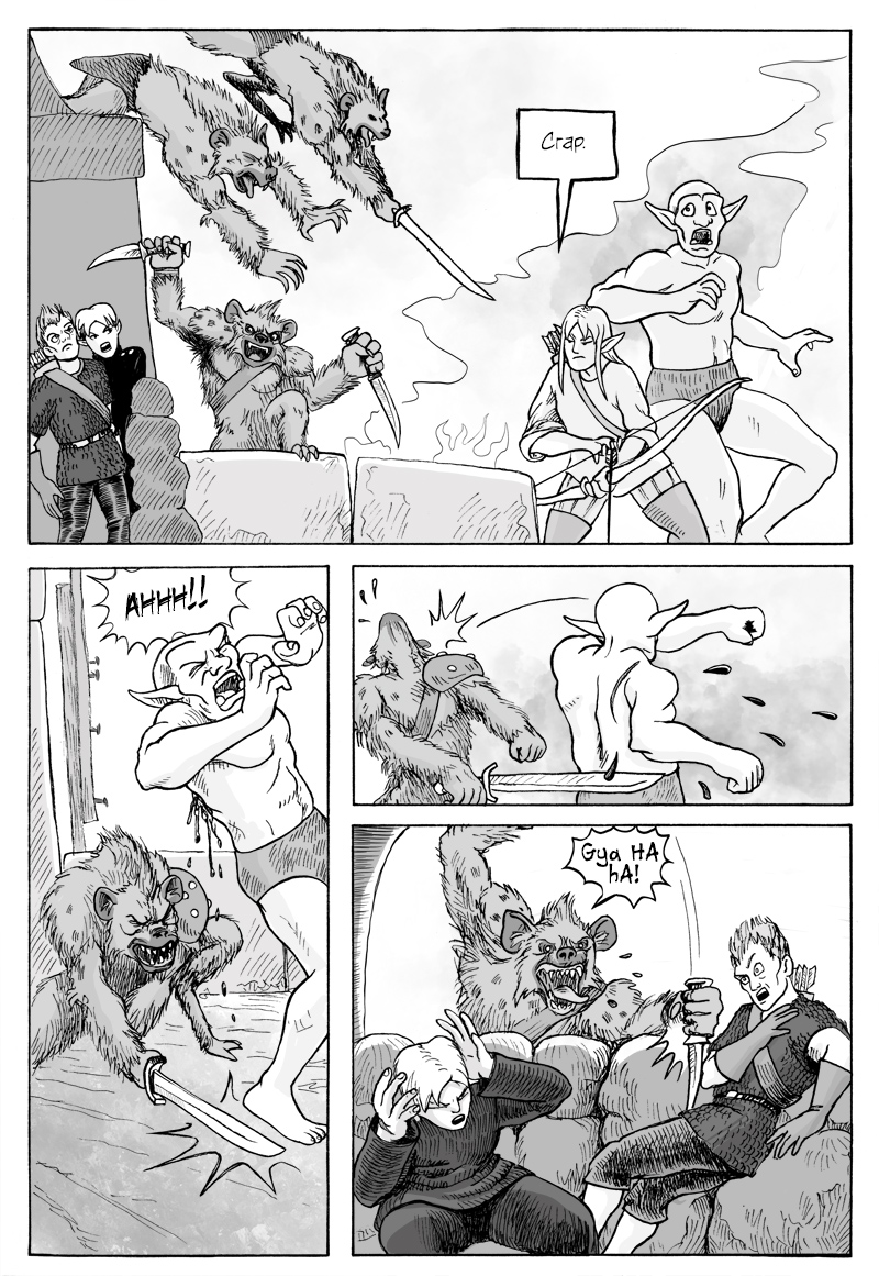 Page 360 – Attack of the Gnolls.